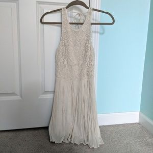 NWOT Hollister Crochet Flowy Cream Dress